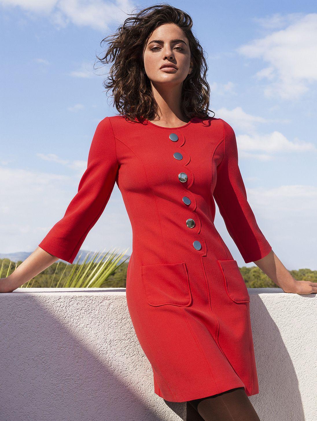caroline biss red dress